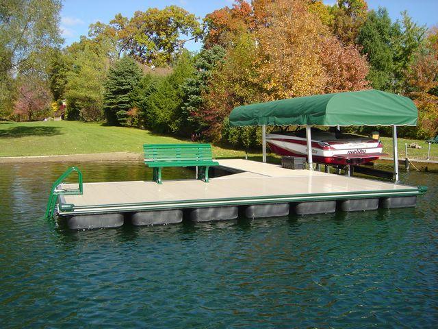 Floating boat docks company Michigan